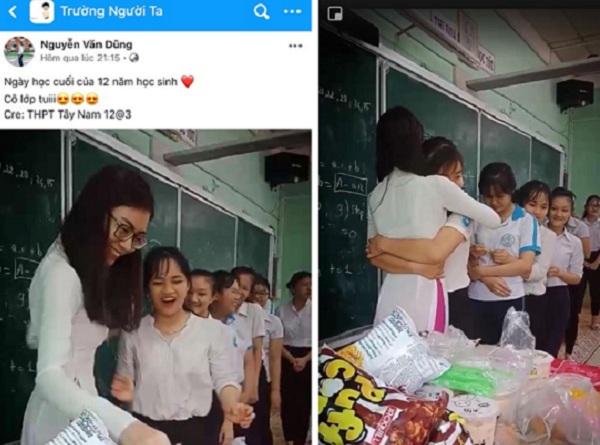 Chiêu đãi học trò cuối cấp chầu trà sữa khổng lồ, cô giáo xinh đẹp gây sốt cộng đồng mạng