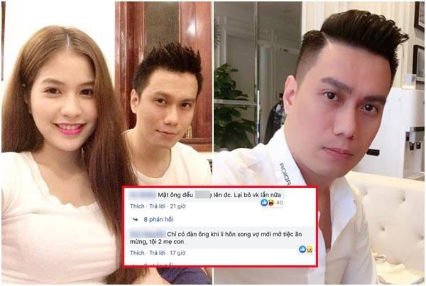 """CĐM vào tận Facebook mắng Việt Anh """"bạc tình bạc nghĩa"""" vì vừa bỏ vợ đã mở tiệc ăn mừng?"""