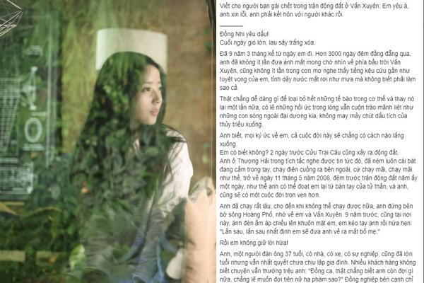 """Bức thư gửi bạn gái đã khuất khiến CĐM rơi nước mắt: """"Tạm biệt em, kiếp này duyên chưa trọn, hẹn kiếp sau nối duyên"""""""