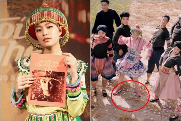 """Sành điệu như """"Mị"""" của Hoàng Thùy Linh: Mặc váy dân tộc còn đi sneakers cùng tông """"giá khủng"""""""