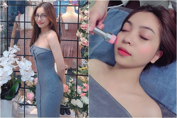 Vào hè, bạn gái Quang Hải không ngại ngần mặc các kiểu trễ vai đón nắng