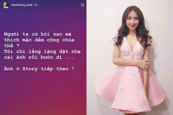 """""""Té ngửa"""" trước lý do khiến Hòa Minzy thường xuyên phải diện """"đầm công chúa"""""""