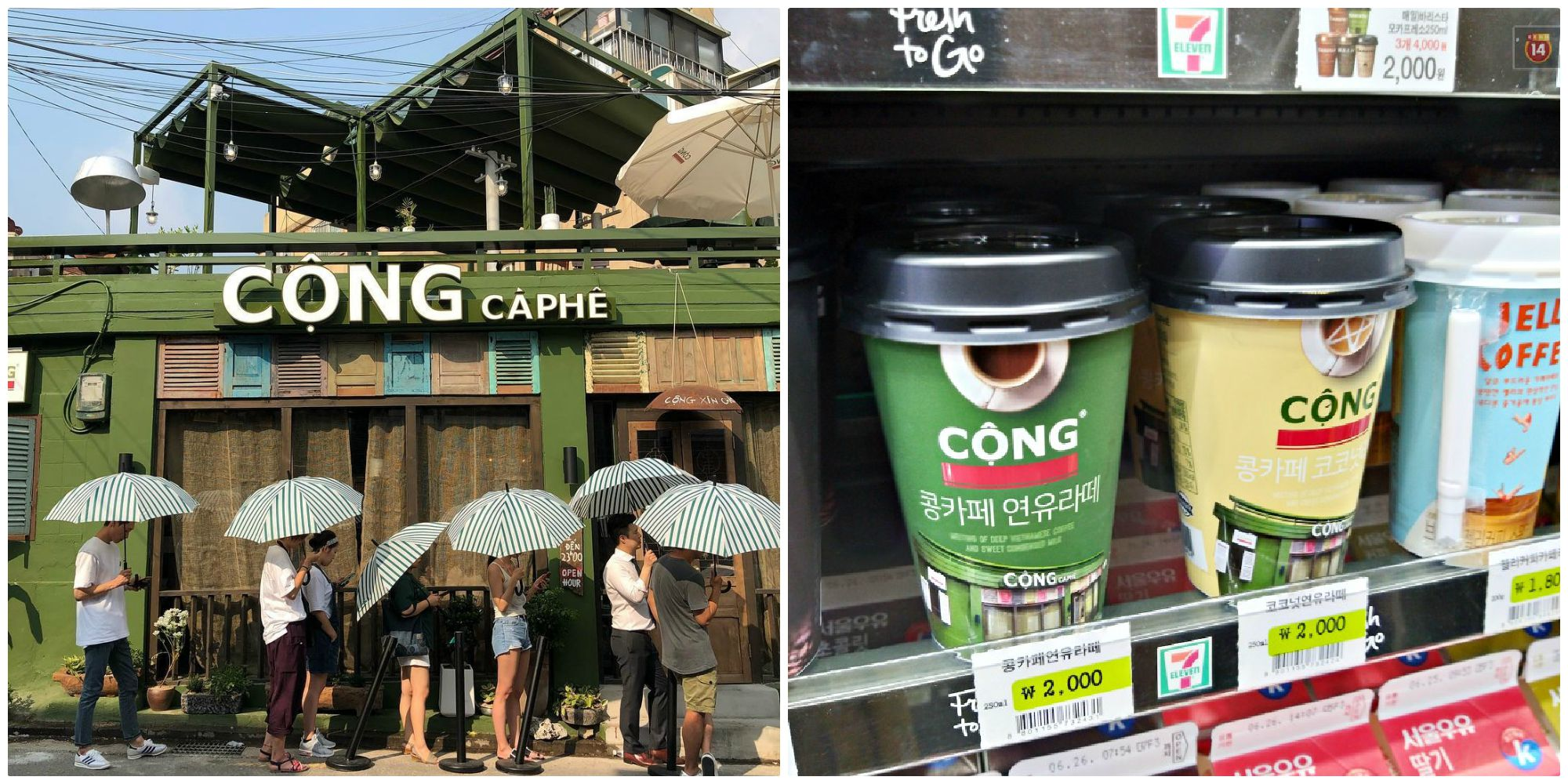 Cà phê Cộng đóng hộp chính thức được 7Eleven  bày bán rộng rãi ở Hàn Quốc