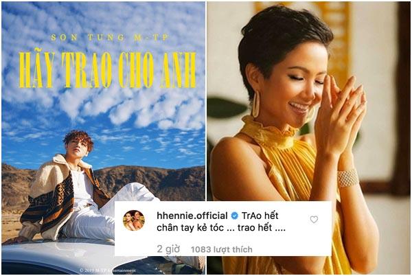 """Sơn Tùng vừa lộ MV mới, Hoa hậu HHen Niê bỏ ngay Đen Vâu để nguyện """"trao thân"""" cho Tùng"""