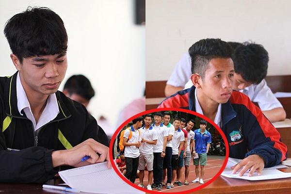 """Nhìn loạt ảnh lộ vẻ căng thẳng khi đi thi của dàn cầu thủ Việt thời đi học bỗng nhận ra đáng sợ nhất vẫn là """"vượt vũ môn"""""""