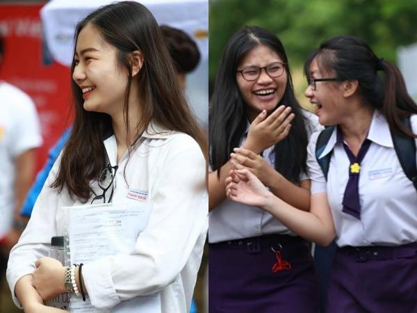 Sinh ra ở vạch đích, loạt thí sinh tươi cười sau khi làm bài thi vì biết trước mình đã đỗ Đại học!