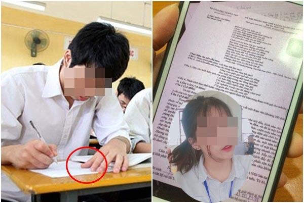 Góc gian lận: Nam sinh Phú Thọ lại chụp lén đề thi gửi qua Facebook nhờ...bạn gái giải hộ