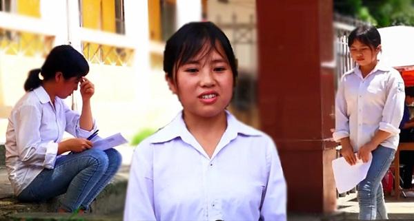 Nghị lực của nữ sinh vùng cao mồ côi cha, một mình đi bộ 20 km để thi THPT Quốc gia 2019