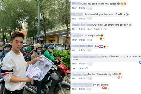 """Ức chế vì bị hot girl Hà Nội boom hàng, hot vlogger Lê Thanh Hoàng Anh """"chơi lớn"""" khi dán bảng tìm kiếm khắp nơi"""