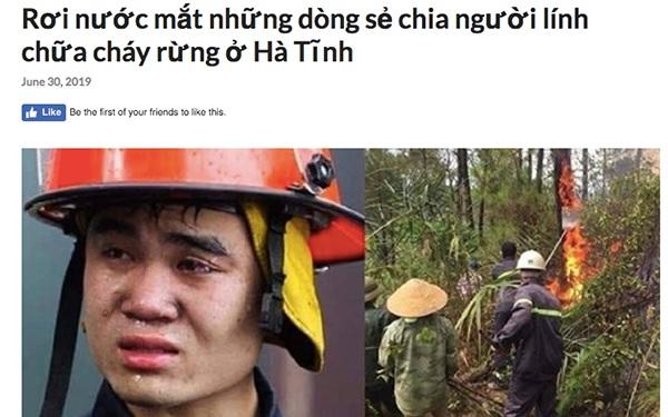 Sự thật đằng sau bức ảnh anh lính cứu hỏa rơi nước mắt trong vụ cháy rừng ở Hà Tĩnh hiện đang gây bão MXH