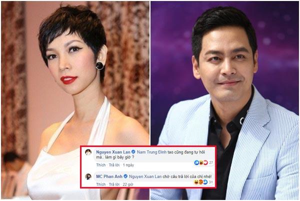 """Loạt đối đáp """"móc mỉa"""" nhau của siêu mẫu Xuân Lan và MC Phan Anh về vụ cháy rừng Hà Tĩnh"""