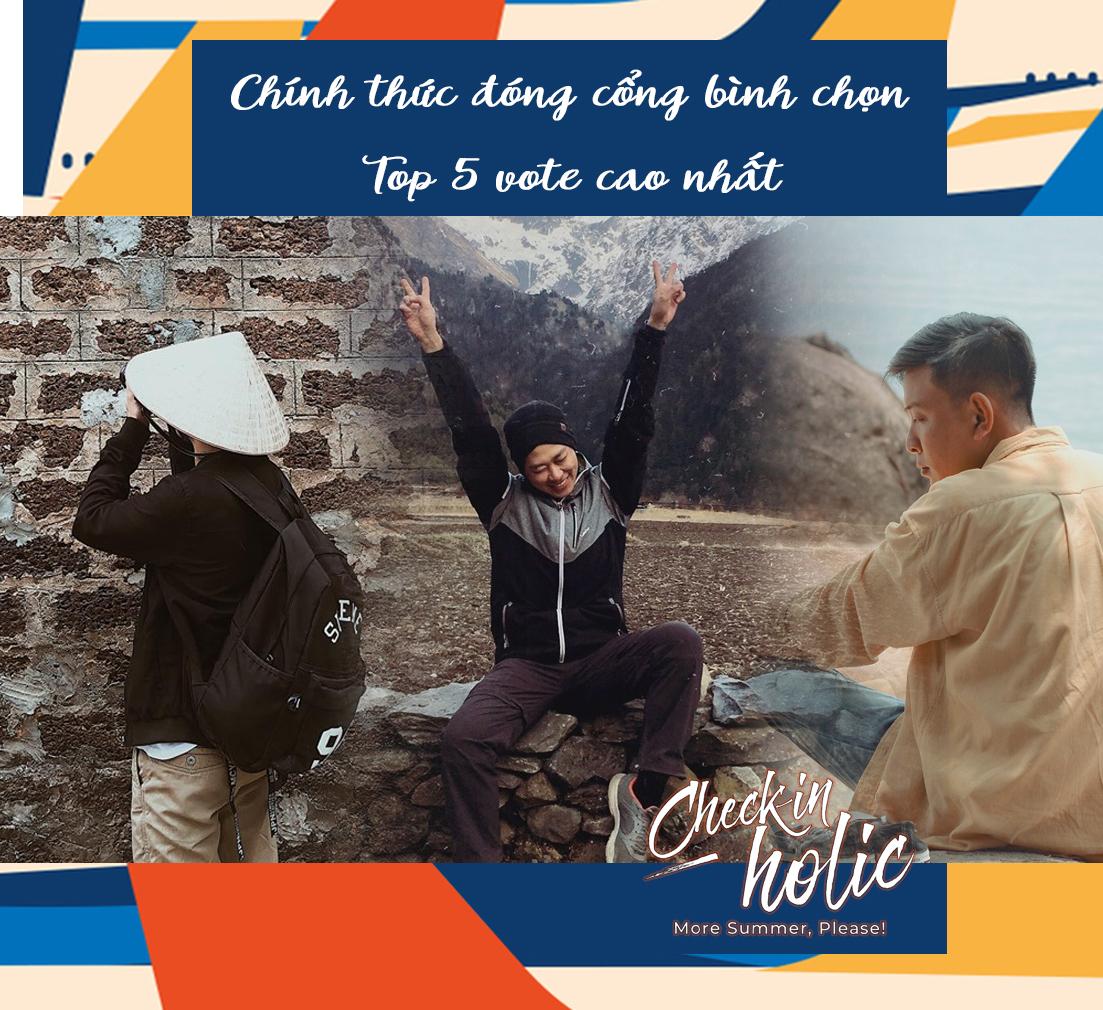Checkin-Holic: Chính thức đóng cổng bình chọn, lộ diện Top 5 được điểm vote cao nhất