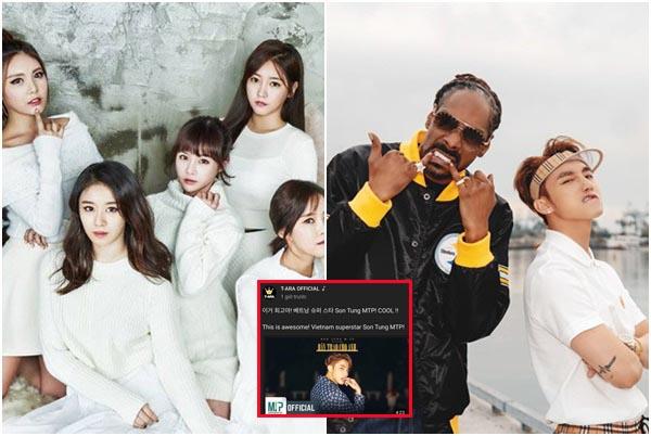 """Đến nhóm nhạc đình đám T-ara cũng """"phát cuồng"""" vì MV Hãy trao cho anh của Sơn Tùng M-TP"""