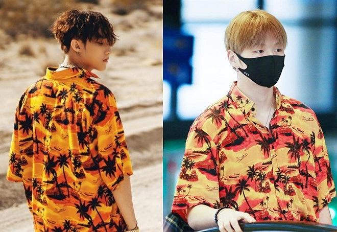 """Đã tìm ra chiếc áo sơ mi họa tiết cây dừa vàng của Sơn Tùng đang khiến dân tình """"truy lùng"""" để diện đi biển hè này"""