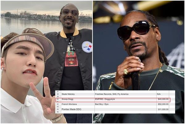 Để mời rapper giàu nhất thế giới Snoop Dogg, Sơn Tùng M-TP phải chi bao nhiêu tiền?