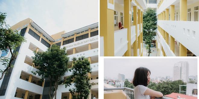 """Thay thế cơ sở cũ nát, Trần Nhân Tông trở thành trường cấp 3 công lập cao nhất Hà Nội với không gian lung linh """"ảo diệu"""""""