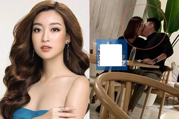 """Hoa hậu Đỗ Mỹ Linh bị phát hiện hôn """"trai lạ"""" trong quán cà phê"""