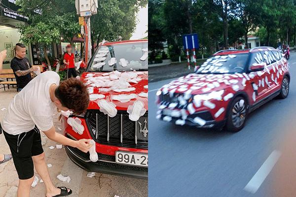 """Dán BVS kín xế hộp tiền tỷ rồi đi diễu khắp phố, """"Thánh chửi"""" Dương Minh Tuyền nhận """"mưa gạch đá"""" của dân mạng"""