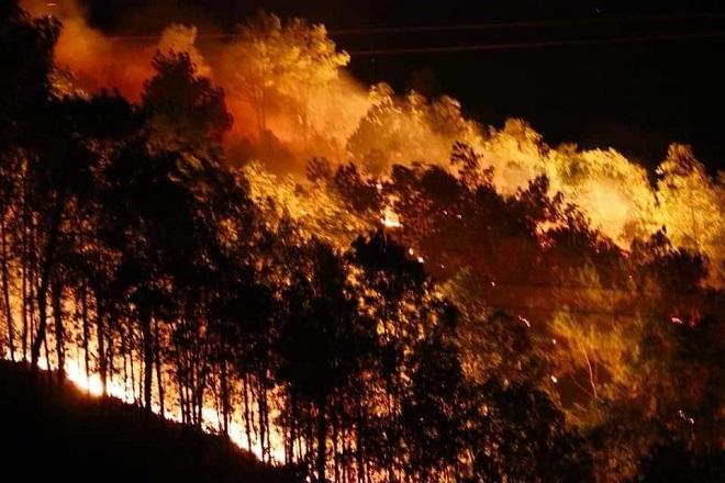 Hà Tĩnh lại cháy rừng, người dân ôm đồ sơ tán trong đêm