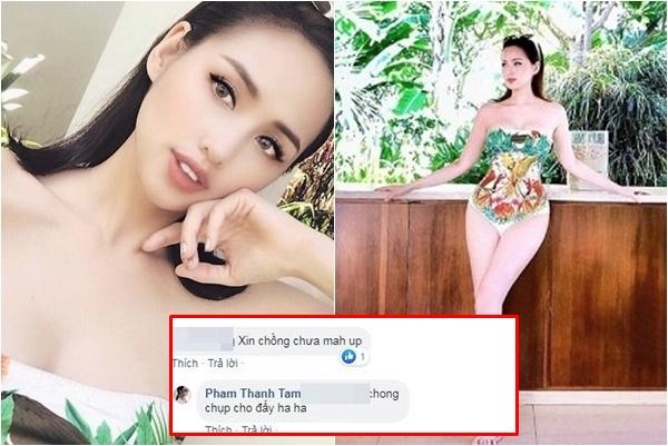 """Khoe ba vòng nở nang như muốn bung khỏi bikini, Tâm Tít bị hỏi vặn: """"Đã xin phép chồng đăng ảnh này chưa?"""""""