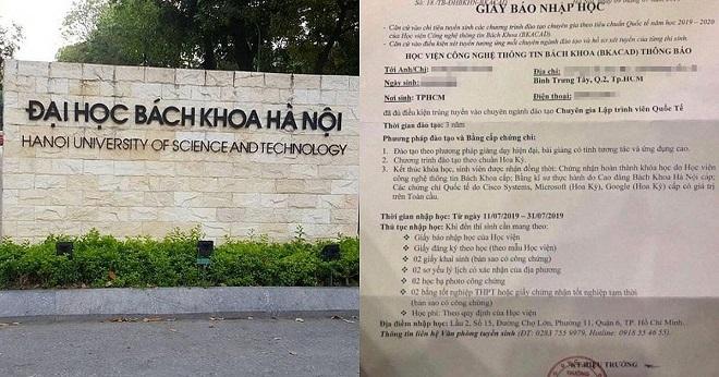 Phó hiệu trưởng ĐH Bách khoa Hà Nội gửi công văn xin lỗi phụ huynh và thí sinh về giấy báo nhập học BKACAD