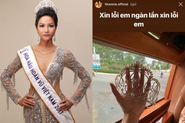 H'Hen Niê xót xa khi làm gãy chiếc vương miện Hoa hậu trị giá hơn 2,7 tỷ đồng
