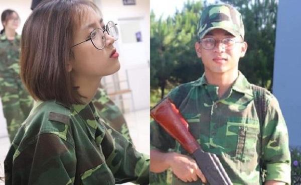 Nam thanh nữ tú ĐH Tôn Đức Thắng mặt mộc, quần áo giản dị tập quân sự vẫn sáng ngời ngời