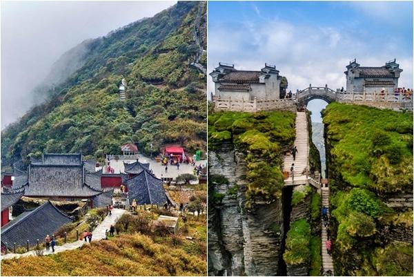 """Sững sờ trước """"thành phố cổ đại trên trời"""" ở Trung Quốc vừa được lên đầu báo của CNN"""