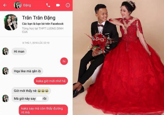 """Vô tình like dạo ảnh gái, thanh niên 9x mạnh dạn nhắn tin ai ngờ """"rinh"""" ngay được vợ tương lai"""