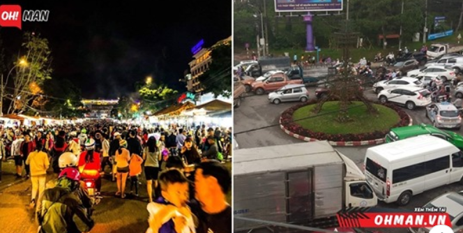 Khách du lịch tăng nhanh, Đà Lạt đang lập kỷ lục về vấn nạn kẹt xe, tắc đường