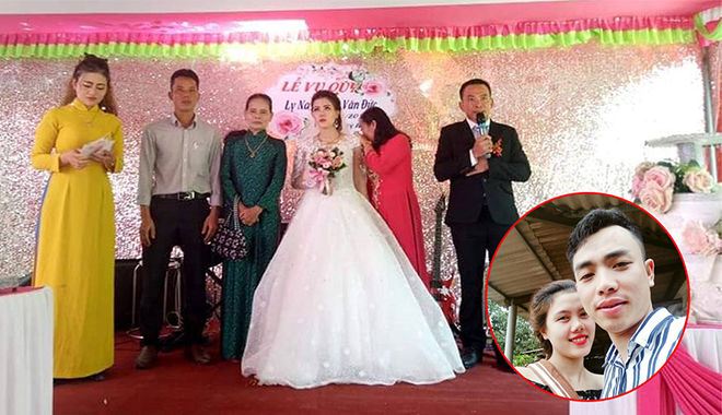 Xót xa hình ảnh cô dâu tủi thân tổ chức đám cưới một mình vì chú rể không về kịp