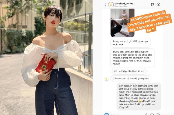 """Tranh cãi xung quanh việc Khánh Linh (The Face) bị """"đuổi"""" khỏi quán cà phê vì chụp hình không xin phép: Không có lửa làm sao có khói"""