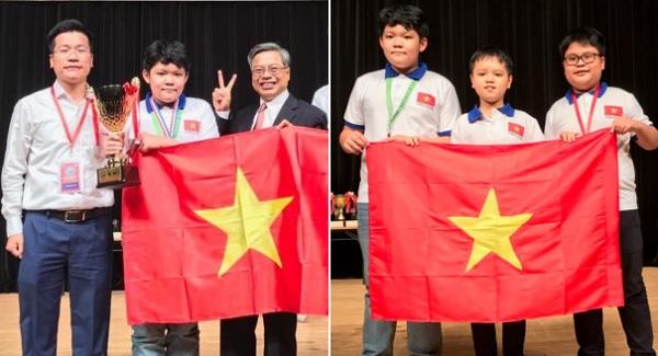 Đoàn học sinh Việt Nam đạt 3 giải Kim cương trong kỳ thi Toán Quốc tế WMI 2019