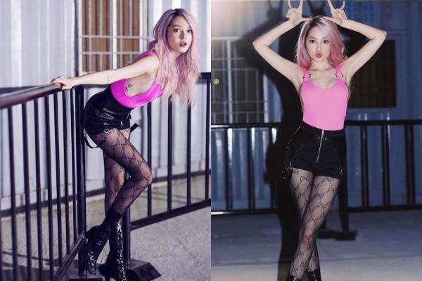 Yêu lại từ đầu có khác, hết tóc tém cá tính, Bảo Anh lại trông khác lạ với mái tóc hồng tím đầy thú vị