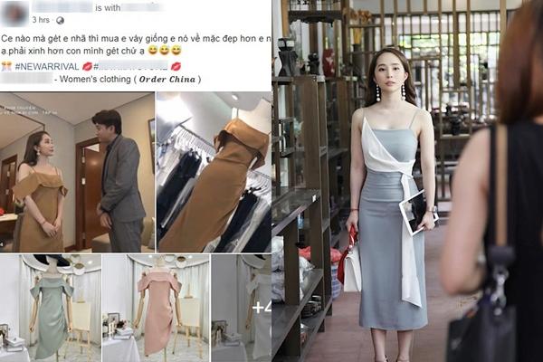 """Váy của Nhã (Về nhà đi con): chủ shop online tranh nhau rao bán, dân tình """"cạch"""" luôn vì là """"váy tiểu tam"""""""