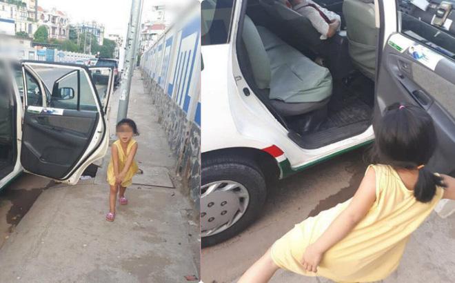 """Cô bé nô đùa bên chiếc xe taxi và câu nói gây ám ảnh nhất MXH hôm nay: """"Má nó bỏ nhà đi lâu lắm rồi"""""""