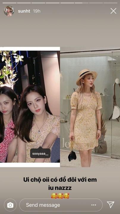 """Bạn gái Phở hồn nhiên khoe mặc váy đôi với Jisoo (BLACKPINK) nhưng chỉ tiếc lại là...""""hàng nhái""""?"""