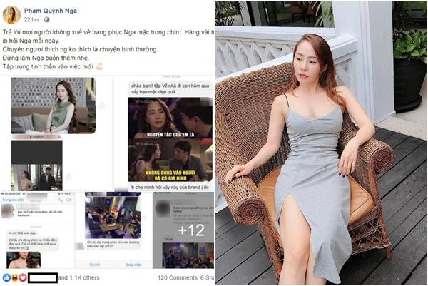 """Bị ghét cay ghét đắng vì vai diễn, Quỳnh Nga (Nhã) vẫn dở khóc dở cười vì bị khán giả inbox """"nổ địa chỉ"""" mua váy"""