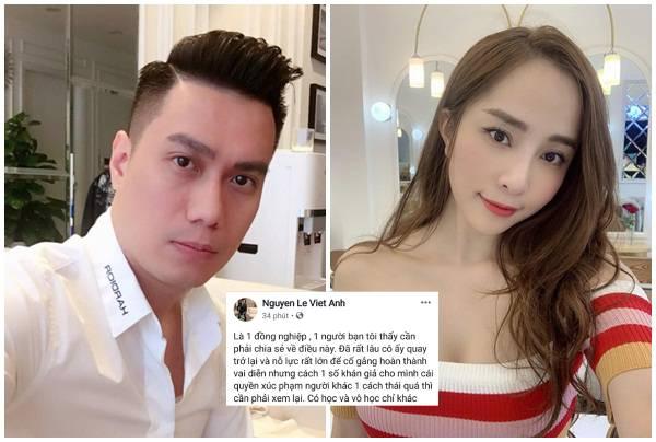 """Từng bị đồn """"cặp kè"""" Quỳnh Nga nên mới ly hôn, Việt Anh bênh vực cô bạn khi CĐM xúc phạm gia đình"""