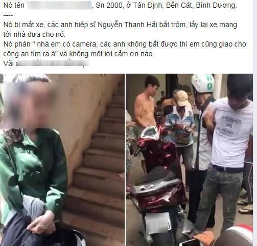 """Mất xe máy được đội hiệp sĩ tìm về cho, nữ sinh nói lời vô ơn gây phẫn nộ: """"Nhà có camera, giao công an tìm cũng ra"""""""