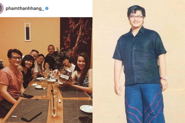 Đến dự sinh nhật Thanh Hằng, Hà Anh Tuấn chiếm trọn spotlight bởi thân hình tăng cân, phát tướng rõ rệt