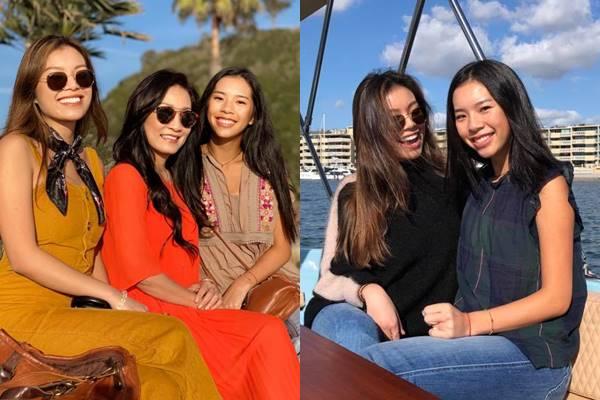 Ngẩn ngơ trước nhan sắc cực xinh đẹp của 2 ái nữ nhà Hồng Đào - Quang Minh