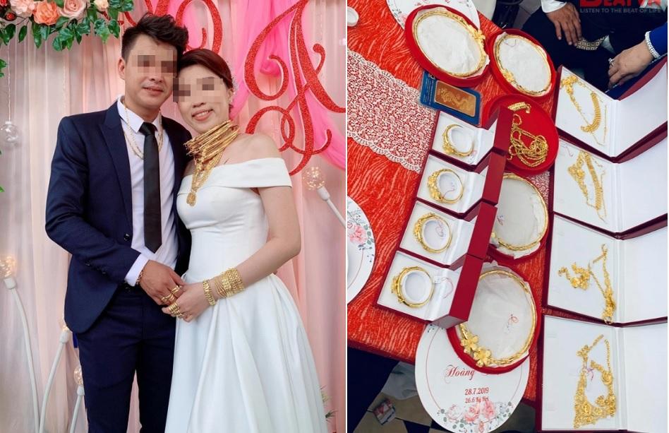 """Cô dâu khoe của hồi môn tính vội cũng được hơn 1kg vàng khiến chị em """"nhìn thôi đã muốn lấy chồng"""""""