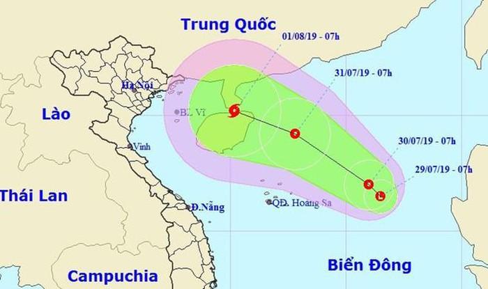 Xuất hiện vùng áp thấp trên Biển Đông, có thể hướng vào Việt Nam gây mưa rào rải rác cho miền Bắc