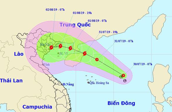 Áp thấp nhiệt đới có thể mạnh thành bão, gió giật cấp 11 tiến nhanh trên vùng biển Bắc vịnh Bắc Bộ