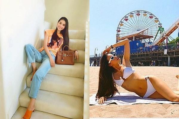 """Phạm Hương khoe dáng giữa bãi biển LA, Mỹ được khen tới tấp sao chuỗi ngày bị chê bai """"kém sắc"""""""