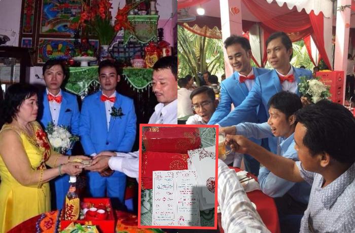 Cộng đồng mạng xôn xao đám cưới cặp đôi đồng tính nam, dân FA ghen tị hết nấc trước khoảnh khắc trao nhẫn cưới