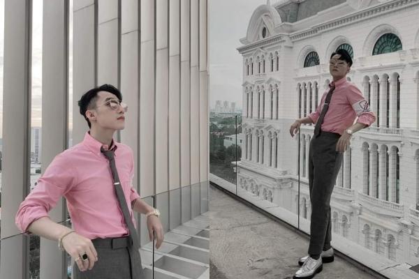 """Thấy bạn gái """"mê"""" Blackpink, Sơn Tùng liền diện cả cây """"hồng xám"""" để check-in khiến fans khen """"ngọt thế"""""""