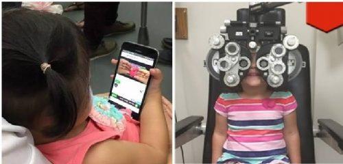 Bé gái 2 tuổi rưỡi cận 9 độ vì bố mẹ cho xem điện thoại mỗi ngày