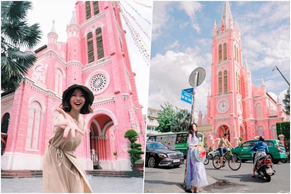 """Nhà thờ màu hồng giữa lòng Sài Thành """"ẵm ngôi"""" quán quân, trở thành địa điểm được săn hình nhiều nhất thời gian qua"""